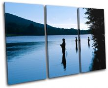 Fishing Lake Blue Sunset Seascape - 13-0135(00B)-TR32-LO